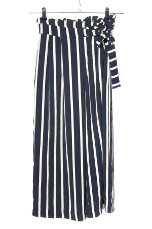 Zara Trafaluc Culottes white-blue allover print casual look