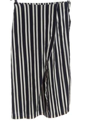 Zara Trafaluc Falda pantalón de pernera ancha blanco-negro estampado a rayas