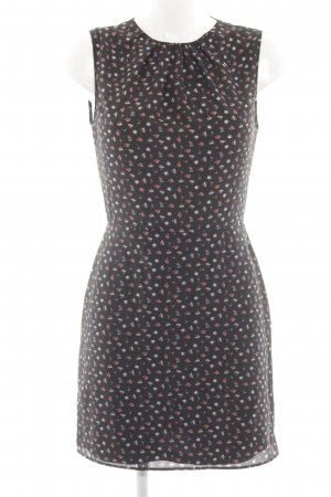 Zara Trafaluc Vestido cut out negro estampado floral look casual