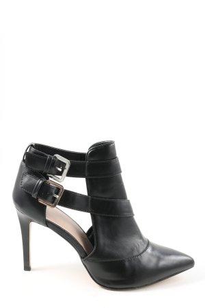 Zara Trafaluc Stivaletto cut out nero-argento stile casual