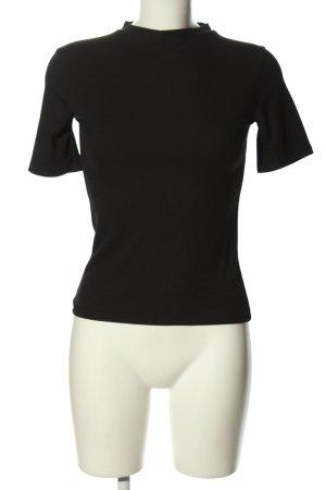 Zara Trafaluc Cut Out Top black casual look