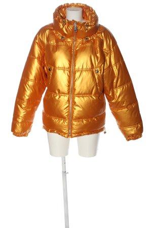 Zara Trafaluc Daunenjacke goldfarben Steppmuster Casual-Look