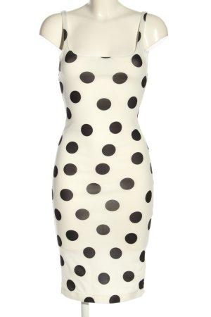 Zara Trafaluc Falda estilo lápiz blanco-negro estampado a lunares look casual