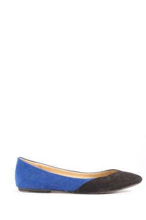 Zara Trafaluc Bailarinas plegables negro-azul look casual