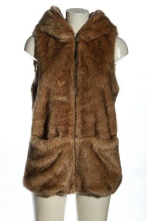 Zara Trafaluc Futrzana kamizelka brązowy W stylu biznesowym
