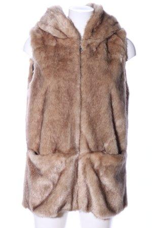 Zara Trafaluc Futrzana kamizelka brązowy W stylu casual