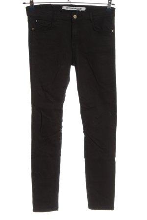 Zara Trafaluc Five-Pocket-Hose schwarz Casual-Look