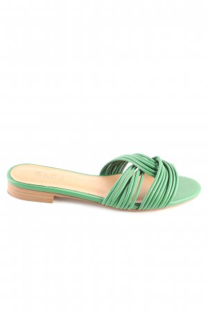 Zara Trafaluc Flip Flop Sandalen grün Casual-Look