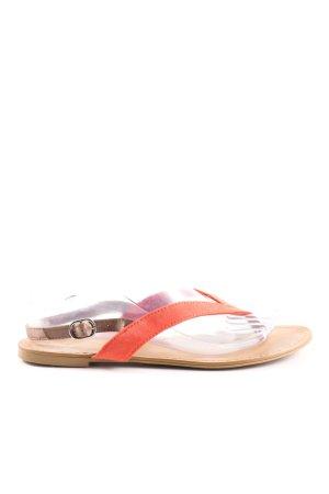 Zara Trafaluc Flip flop sandalen rood-bruin casual uitstraling