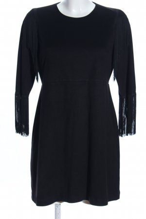 Zara Trafaluc Fringed Dress black elegant