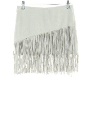 Zara Trafaluc Franjerok licht beige casual uitstraling