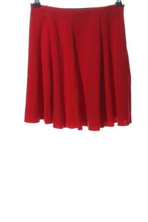 Zara Trafaluc Rozkloszowana spódnica czerwony W stylu casual