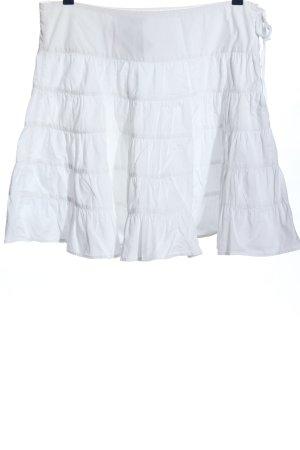 Zara Trafaluc Flared Skirt white casual look