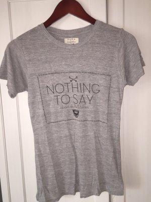 ZARA Trafaluc, Graues T-Shirt mit Schriftzug