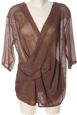 Zara Trafaluc Pullover all'uncinetto marrone stile semplice