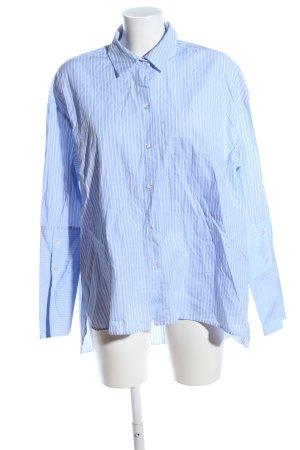 Zara Trafaluc Hemd-Bluse blau-weiß Streifenmuster Casual-Look