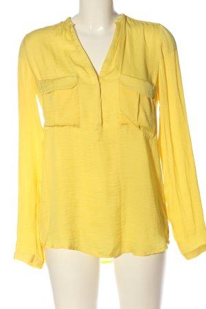 Zara Trafaluc Hemd-Bluse blassgelb Casual-Look