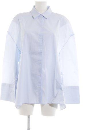 Zara Trafaluc Hemd-Bluse blau Motivdruck Business-Look