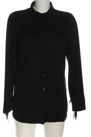 Zara Trafaluc Camicia blusa nero stile casual