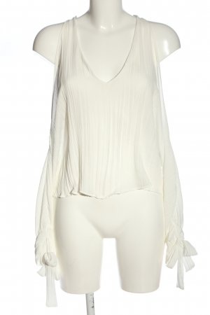 Zara Trafaluc Hemd-Bluse weiß Casual-Look