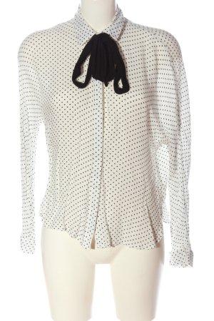 Zara Trafaluc Hemd-Bluse weiß-schwarz Allover-Druck Business-Look