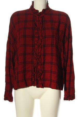 Zara Trafaluc Blusa-camisa rojo-negro elegante