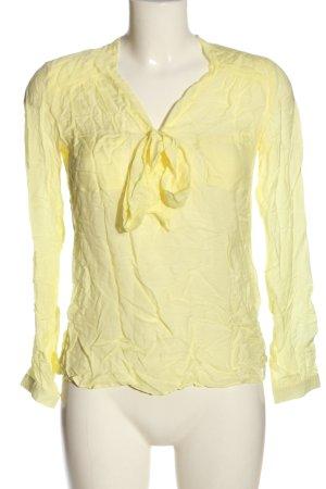 Zara Trafaluc Koszulowa bluzka bladożółty W stylu casual