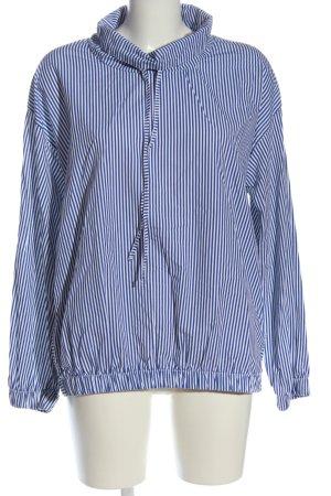 Zara Trafaluc Koszulowa bluzka niebieski-biały Wzór w paski W stylu casual