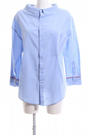 Zara Trafaluc Hemd-Bluse blau Business-Look