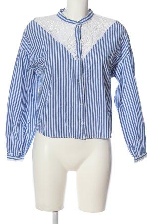 Zara Trafaluc Hemd-Bluse blau-weiß Streifenmuster Business-Look