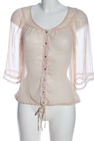 Zara Trafaluc Hemd-Bluse wollweiß Casual-Look
