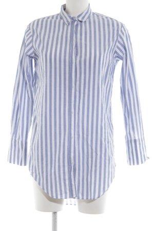 Zara Trafaluc Hemdblusenkleid weiß-blau Streifenmuster Casual-Look