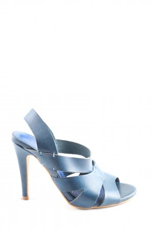Zara Trafaluc High Heel Sandaletten blau Business-Look