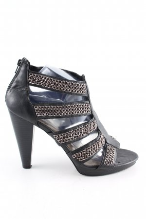 Zara Trafaluc High Heel Sandaletten schwarz Casual-Look