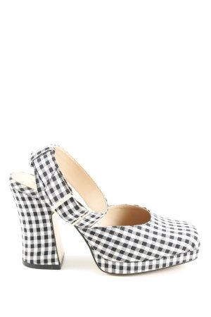 Zara Trafaluc High Heels schwarz-weiß Karomuster Casual-Look