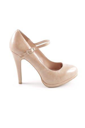Zara Trafaluc High Heels nude Casual-Look