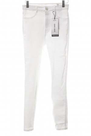 Zara Trafaluc Vaquero de talle alto blanco look casual