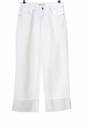 Zara Trafaluc High Waist Jeans weiß Casual-Look
