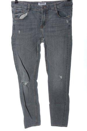 Zara Trafaluc High Waist Jeans hellgrau Casual-Look
