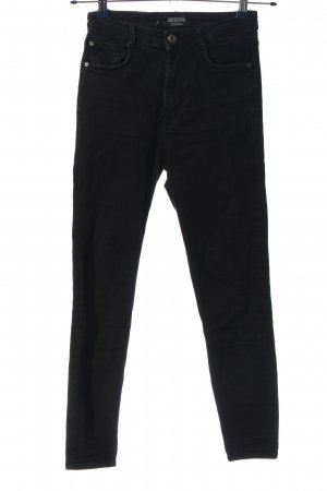 Zara Trafaluc Jeans taille haute noir style décontracté