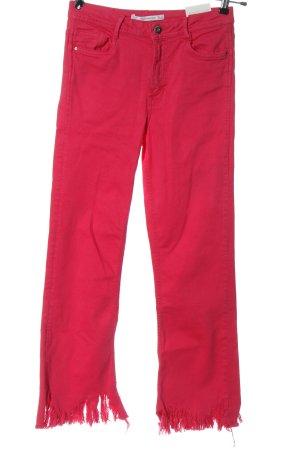 Zara Trafaluc High Waist Jeans pink Casual-Look