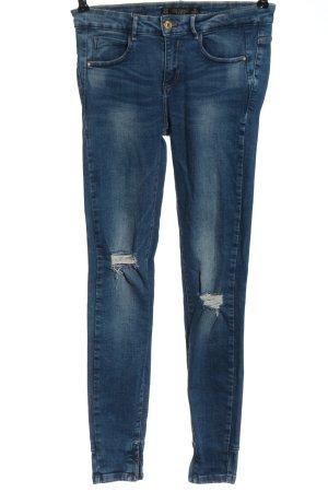 Zara Trafaluc Jeans a vita alta blu stile casual