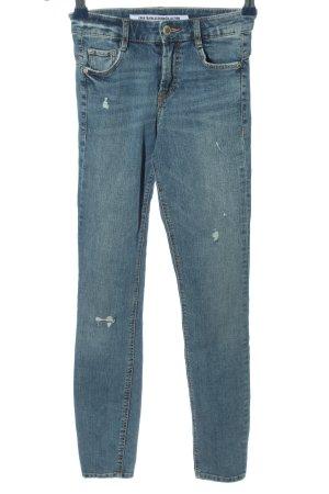 Zara Trafaluc High Waist Jeans blau Casual-Look