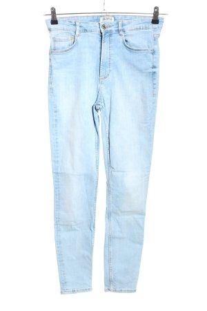 Zara Trafaluc Jeansy z wysokim stanem niebieski W stylu casual