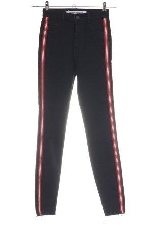Zara Trafaluc High Waist Jeans Streifenmuster Casual-Look