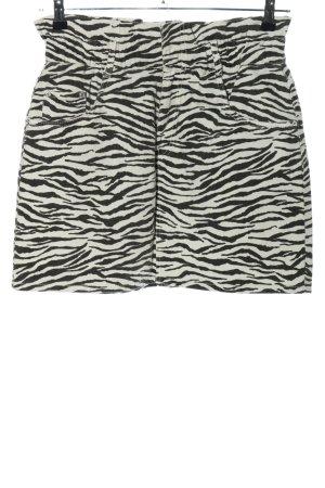 Zara Trafaluc High Waist Rock schwarz-weiß Allover-Druck Casual-Look