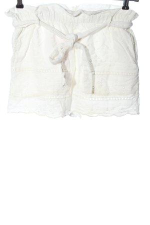 Zara Trafaluc High-Waist-Shorts weiß Casual-Look