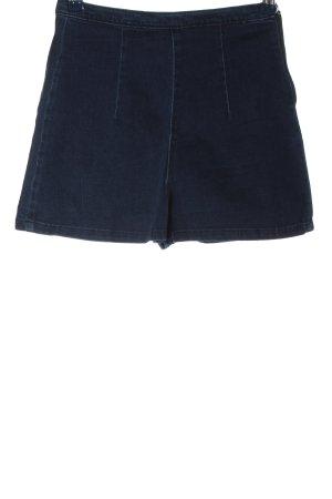 Zara Trafaluc High-Waist-Shorts blau Casual-Look