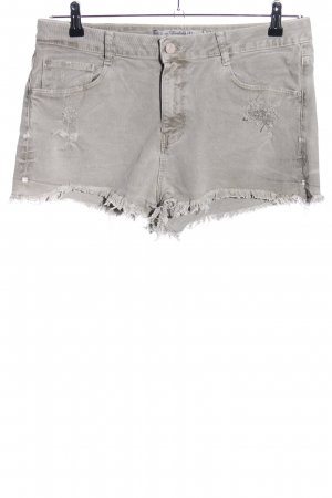 Zara Trafaluc High-Waist-Shorts hellgrau Casual-Look