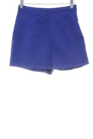 Zara Trafaluc High-Waist-Shorts blau Beach-Look